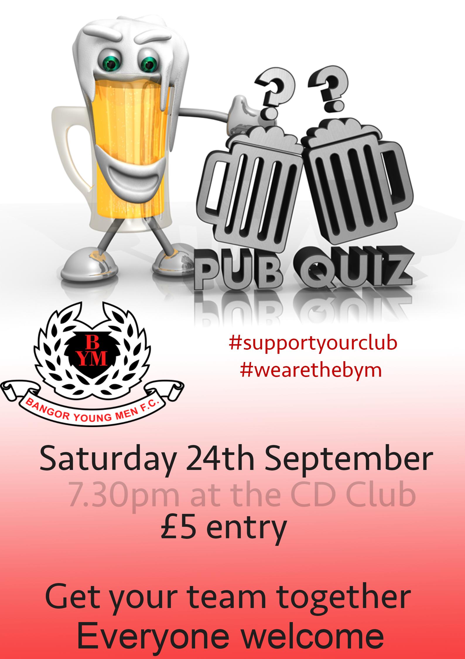 Pub Quiz 2016 - Bangor Young Men Football Club
